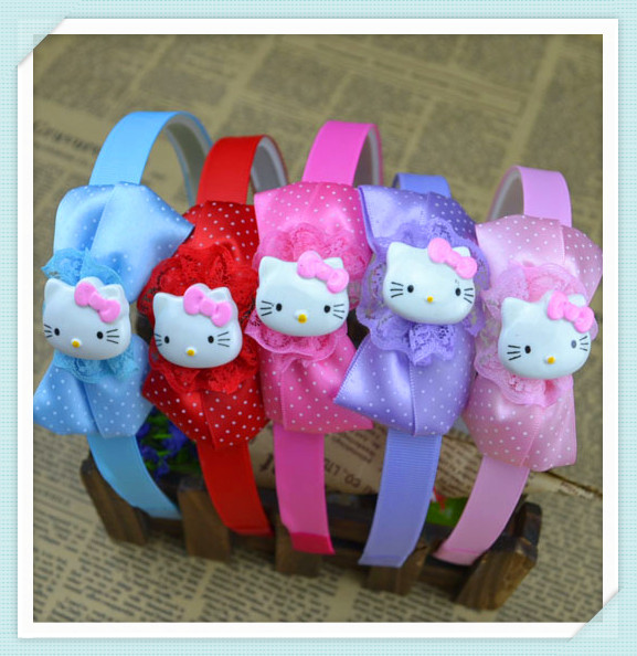 Fashion Cute Princess headwear hair accessories kitty cat hairbands mix color children kids girl baby gift free shipping H49(China (Mainland))