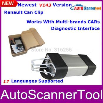 2014 Newest Version V143 Renault Can Clip Professional Diagnostic Scanner For Renault Series Models Support Multi-Langauges