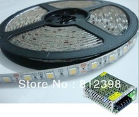LED strips 5050 with crystal epoxy IP55, 60leds/m, 5meters/reel, with transformer