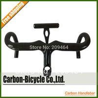 Carbon fiber integrated road bike handlebar Carbon computer mount included