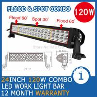 """120W 22"""" LED Work Working Driving Light Bar for Boat Car Truck Spot Wide Floodlight Beam SUV ATV OffRoad Fog Lamp 10V~30V"""