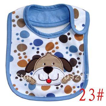 2014 carters new multicolor zoo animal cartoon baby waterproof thin Bib Bibs baberos babador para de bebe for boy girl 7pcs/lot