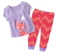 Excellent Kid's Short Sleeves Lycra Pajamas Girl's Summer Minnie Cartoon Sleepwear Set, 6 Sizes (2T-7T) - GPA209/GPA241/GPA334