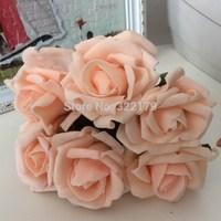 100 pcs Champagne Artificial Flowers Wedding Decorations  For Bouquet Wedding Flower Decoration Christmas Home Decor