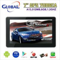 free shiipng 7 inch CAR GPS NAVIGATOR  AVIN 1.2GHZ+512MB+8GBFM+Wifi+GPS+Android4.0 Navigation free 2014 maps