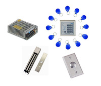 Free ship by DHL ,access control kit ,one EM keypad access control+power+magnetic lock +exit button+free 10 em card,sn:em-003