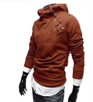 Men's Stand Collar Hoodies Zip Design Hoodies Men Sports Coat Winter Sweatshirt  M-XXXL  Plus Size  MWW041