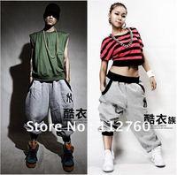 2014 Quality Hiphop Pants Boys Girls Hip-hop Dance Cross-Sweatpants Men / Women M-5XL Hip Hop Wear Free Shipping