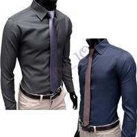 Free Shipping+ New Mens Shirt+Casual Slim Fit Stylish Hot Dress Shirts long sleeve 2color,4 Size,dropshipping3654 38