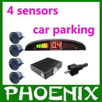 Promotional price !!! Various Colors!!! 4 Sensors Car Parking System 12v LED Display Indicator Sound Alarm car parking sencor