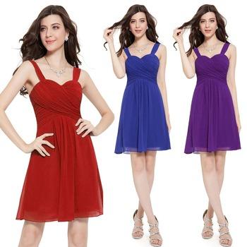 He03539 элегантный фиолетовый оборками мягкий шифон платье невесты