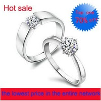 Lovers'  925 pure silver fasion  rings   lover rings female silver jewelry male cuicanduomu shine