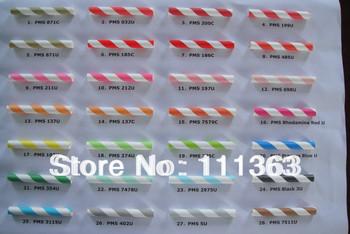 Wholesale  2500pieces/lot  Your Choice of Color Paper Straws for party favor  139colors for you choose 25pcs/bag