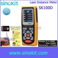 Handheld Laser rangefinders Distance Meter measurement range finder tape measuring instrument SK100D