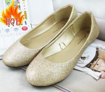 Free shipping Ladies Glitter flats women  ballet shoes 2014 fashion spring and autumn shoes Ladies ballerinas sapatos femininos