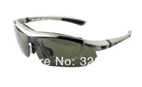 2013 Prescription Polarised Specialized Bike Cycling Sunglasses Outdoor Sport Sun glass 5 Lenses Interchangeable Golf Fish Shade
