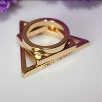 # R003T  Trendy punk rings   female pendant 18k gold finger rings  accessories TG-3.99  wholesale charms