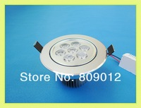 high power LED ceiling light 7W LED down light lamp LED ceiling lamp spot light AC85-265V 2 years warranty Fedex free shipping