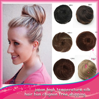 50Pcs/Lot Free Shipping The Beauty Fashion Woman Scrunchy Drawstring Hair Bun  Roller Synthetic Chignon Hairpieces Ponytail Q3