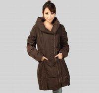 OK freeshipping winter autumn black coffe korean style women female ladies big collar extended coat parhas outwear top  WM3882