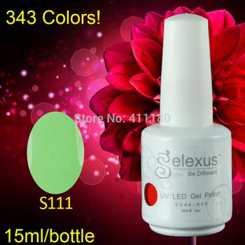 Free shipping 2015 New Gelexus Soak off UV Nail Gel Polish 3pcs/lot 15ml 5oz (1pc color gel+1pc base gel+1pc top coat) 343Colors