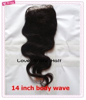 "Free shipping Virgin peruvian lace closure4""*4"" human hair lace closure 10-20 inches virgin hair cheap body wave free parting"