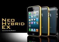Newest SGP SPIGEN Neo Hybrid  EX Vivid Series For IPhone 5 5G 5S bumper+Original Box Free Shipping wholesale