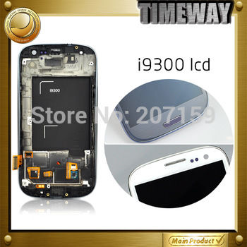 1000% original Free shipping for S i9300 LCD with Touch Screen Digitizer+Frame Assembly white colors