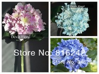 NATURAL/ REAL TOUCH  FLOWERS BLUE/WHITE/PINK HYDRANGEA FLOWERS for bridal / wedding bouquets