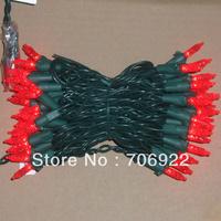Holiday Sale Free Shipping 10 PCS UL 110V 7M 70L Red  M5 LED Christmas Lights
