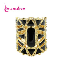 2013 New Coming Hot Selling Hollow-out Enamel Vintage Aulic Gold Color Rings Jewelry for Women