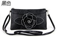 Free Shipping 2013 Fashion New Genuine Rose  Flower Handbags Girls Small Clutch shoulder Messenger Bag Camellia Flower Handbag