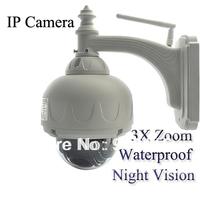 "4.5"" PTZ CCTV WaterProof Outdoor Wanscam IP Camera 3X Optical Zoom IR-Cut WiFi"