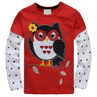Promotion! Girls' Fashion Long-sleeved Knitted Tees, 100% Cotton, 6 Sizes/lot - JBLT162/JBLT171/JBLT172/JBLT181/JBLT307/JBLT364