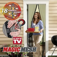 New Magic Mesh Hands-Free Screen Door Magnetic Anti Mosquito Bug Great For Pets Retail Box Free Shipping