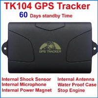 60 days Standby Time!! TK104 GPS Tracker for Car/Vehicle/Truck with / water proof shell / Internal and external antenna