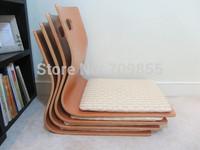 (4pcs/lot) Free shipping Japanese Tatami Zaisu Chair for Living Room Natural Color Fan Shape Kotatsu Table Chair Legless Zaisu