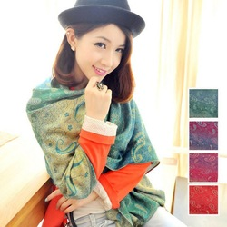 Free shipping! winter warm long floral scarf for Men and Women(RP089L)(China (Mainland))