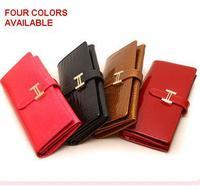 women's buckle female wallet long design handbag purse high quality PU/ genuine leather clutch free shipping 680