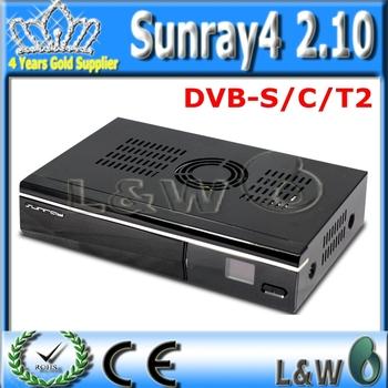 1pcs/Lot The sunray800se wifi sr4  satellite receiver Triple tuner DVB/S/C/T +DHL Free send