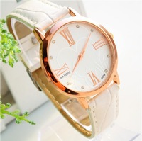 Free Shipping New Arrive fashion brand Leather Watchband Quartz Wrist Watch for women Factory price