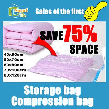 Free shipping 5pcs/lot 40*50/50*70/60*80/70*100/80*120 Vacuum storage bag /Vacuum compressed space bag
