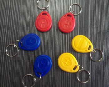 Free shipping(10 pcs) RFID 125Khz Writable Keychains Rewritable Blank EM4305 Proximity ID keyfobs token Tags for  Access control