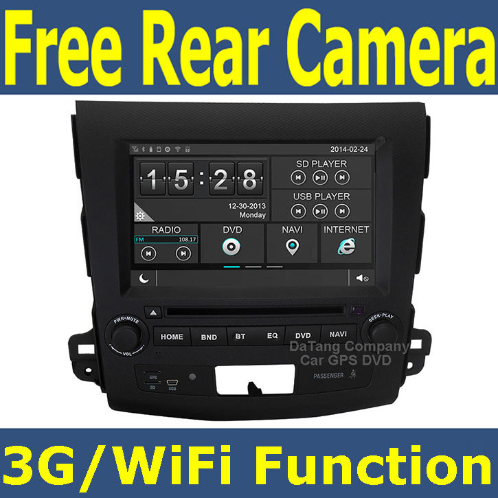 Witson Car GPS DVD Player Head Unit for Mitsubishi Outlander/XL/EX 2007-2012 with Radio Tape Recorder Support 3G Wifi OBD DVR(China (Mainland))