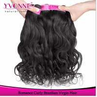 3Pcs/lot Romance Curly Brazilian Hair Weave,Grade 4A Unprocessed Virgin Hair,Natural Color,12-28 Inches Alixpress Yvonne Hair