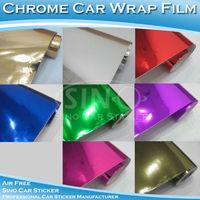 "30x152CM 12""x60"" Free Shipping Chrome Mirror+Chrome Brush+Chrome Fanshaped Car Body Wrap/Car Vinyl/Car Film"
