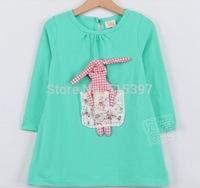 2014 spring stripe butterfly sleeve girls clothing baby long-sleeve dress qz-0404 (CC001QZ0404TH)