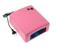 Free shipping.  36W Pink Nail Art UV Gel Curing Lamp Dryer Light UV lamp with 4pcs 365nm UV Bulb