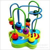 BIG SALE!! FREE SHIPPING wholesale  Educational toys, wooden toys, round bead, mini animal orbit around the maze little pearl