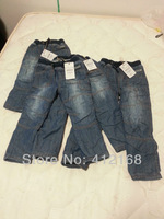 2014 New Winter plus cotton& fleece brand autumn winter Children clothing kids big boys girls warmed jeans  trousers